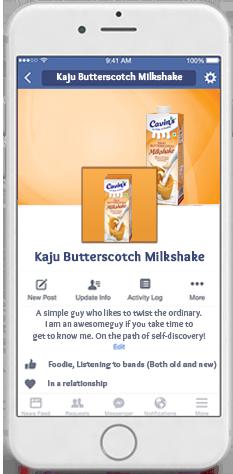 Cavin's Kaju Butterscotch Milkshake