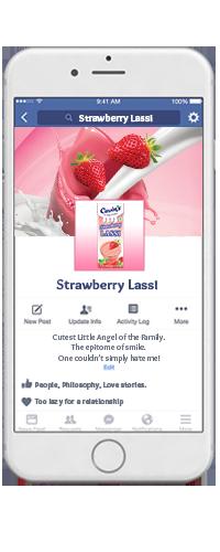 Cavin's Strawberry Lassi