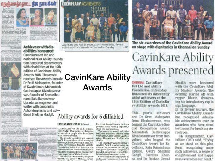 CavinKare Ability Awards 2018