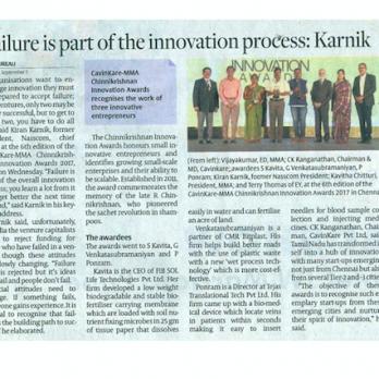 Chinnikrishnan Innovation Award