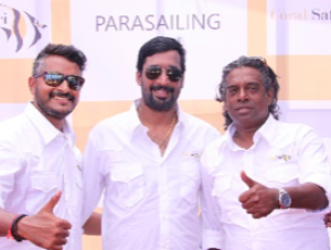 Mr V Prasanna, Mr Ravi V N and Mr Gautham Jayaram