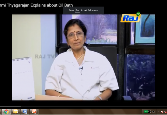 Ms. Lakshmi explains the benefits of oil bath