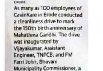 WeCare@CavinKare – Clean India